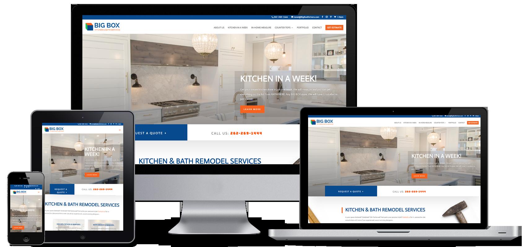 big box kitchen remodel website