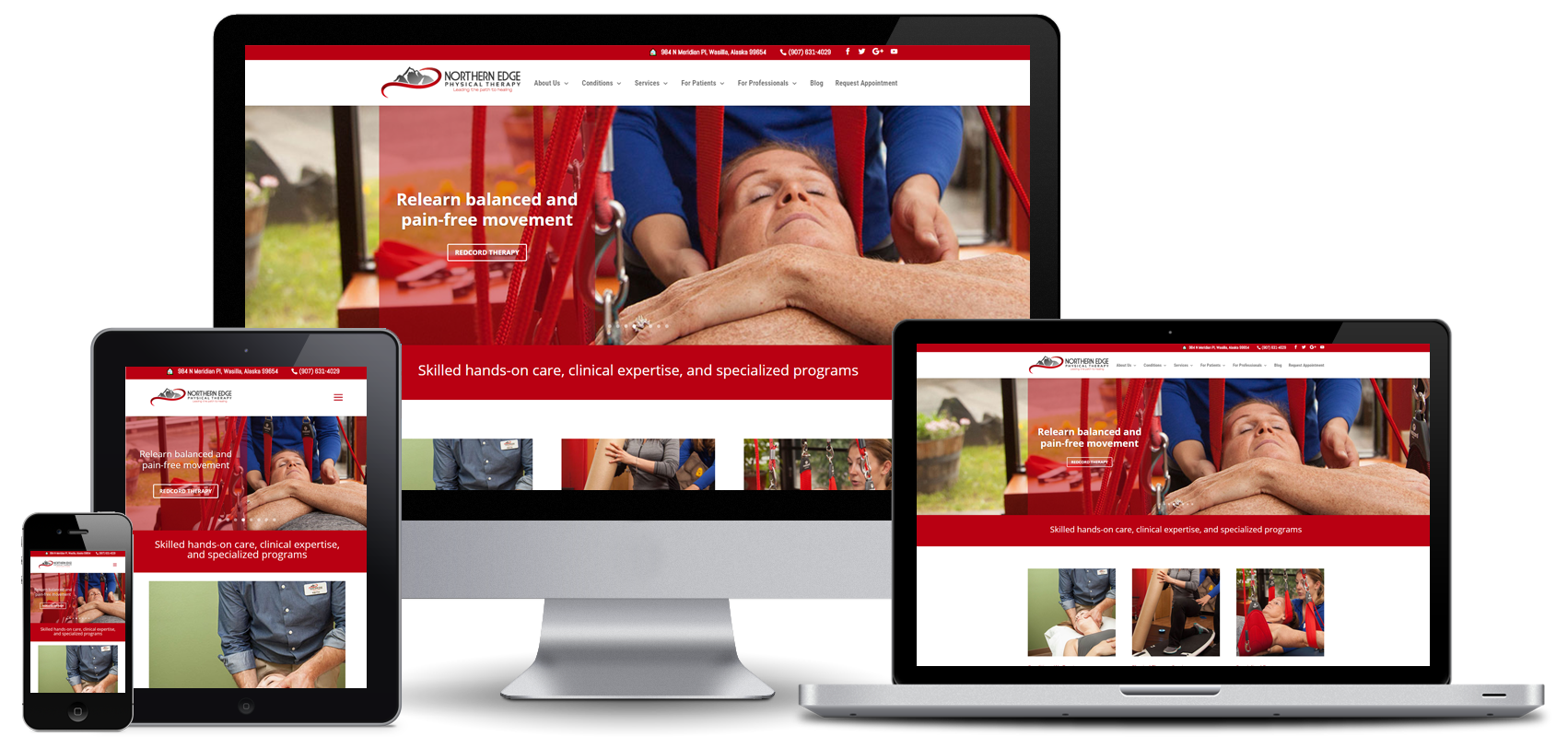 Northern Edge Physical Therapy Website Design