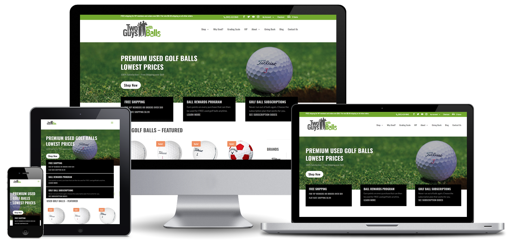 Two Guys with Balls Website Design
